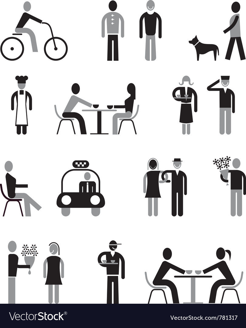 People icons set vector | Price: 3 Credit (USD $3)