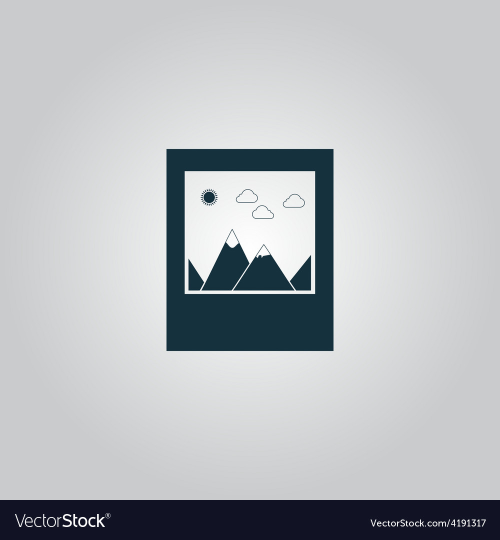 Photo landscape web icon vector | Price: 1 Credit (USD $1)