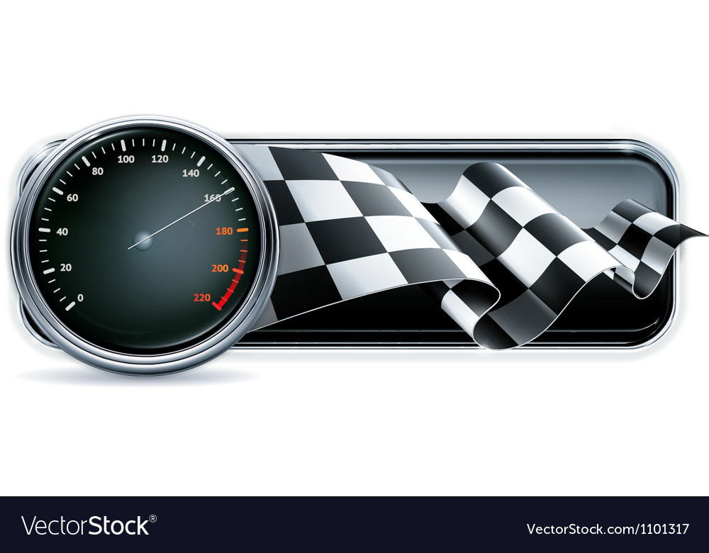 Racing banner with speedometer vector | Price: 1 Credit (USD $1)
