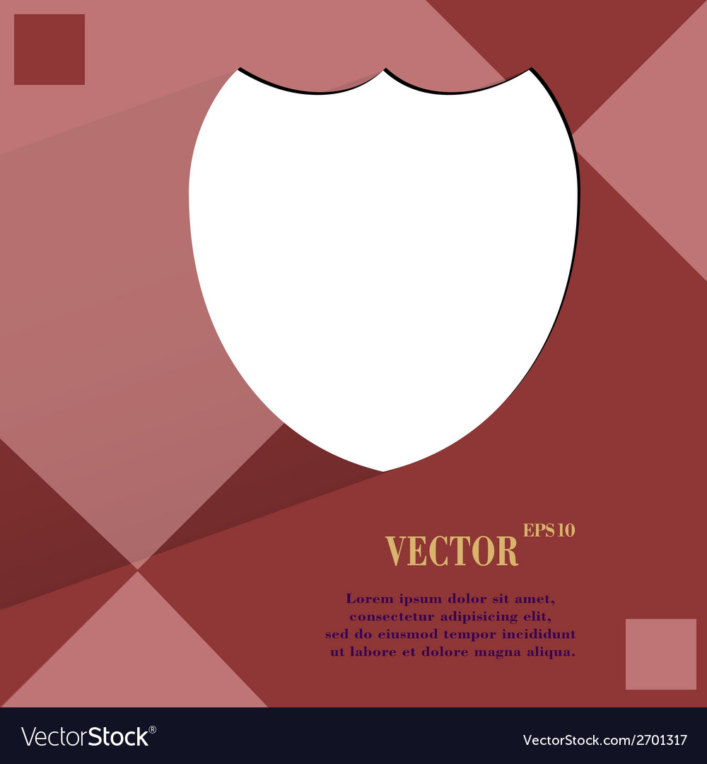 Shield protection flat modern web design on a flat vector | Price: 1 Credit (USD $1)