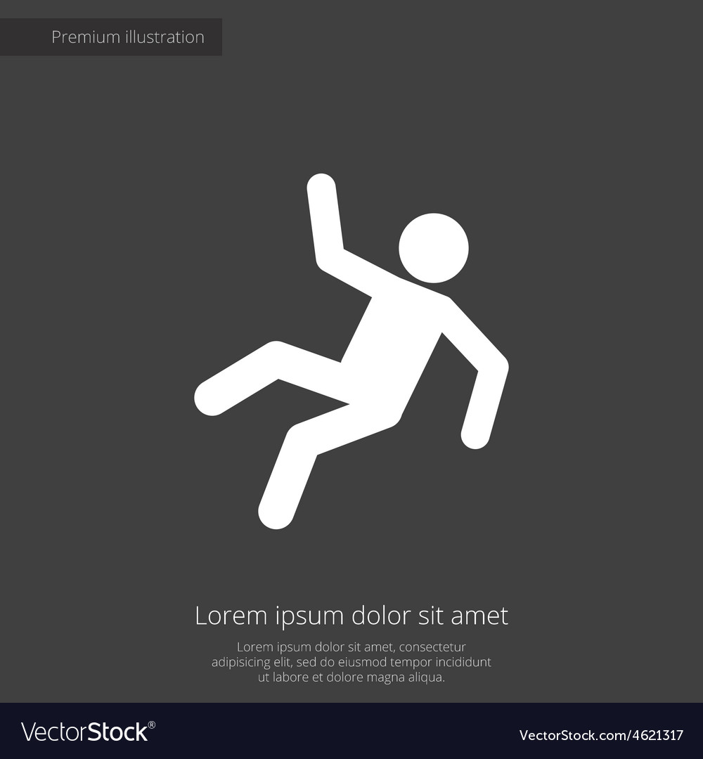 Slippery floor premium icon vector   Price: 1 Credit (USD $1)