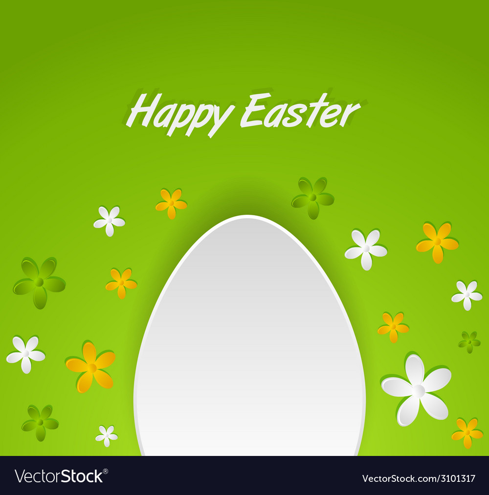Spring easter egg card vector | Price: 1 Credit (USD $1)