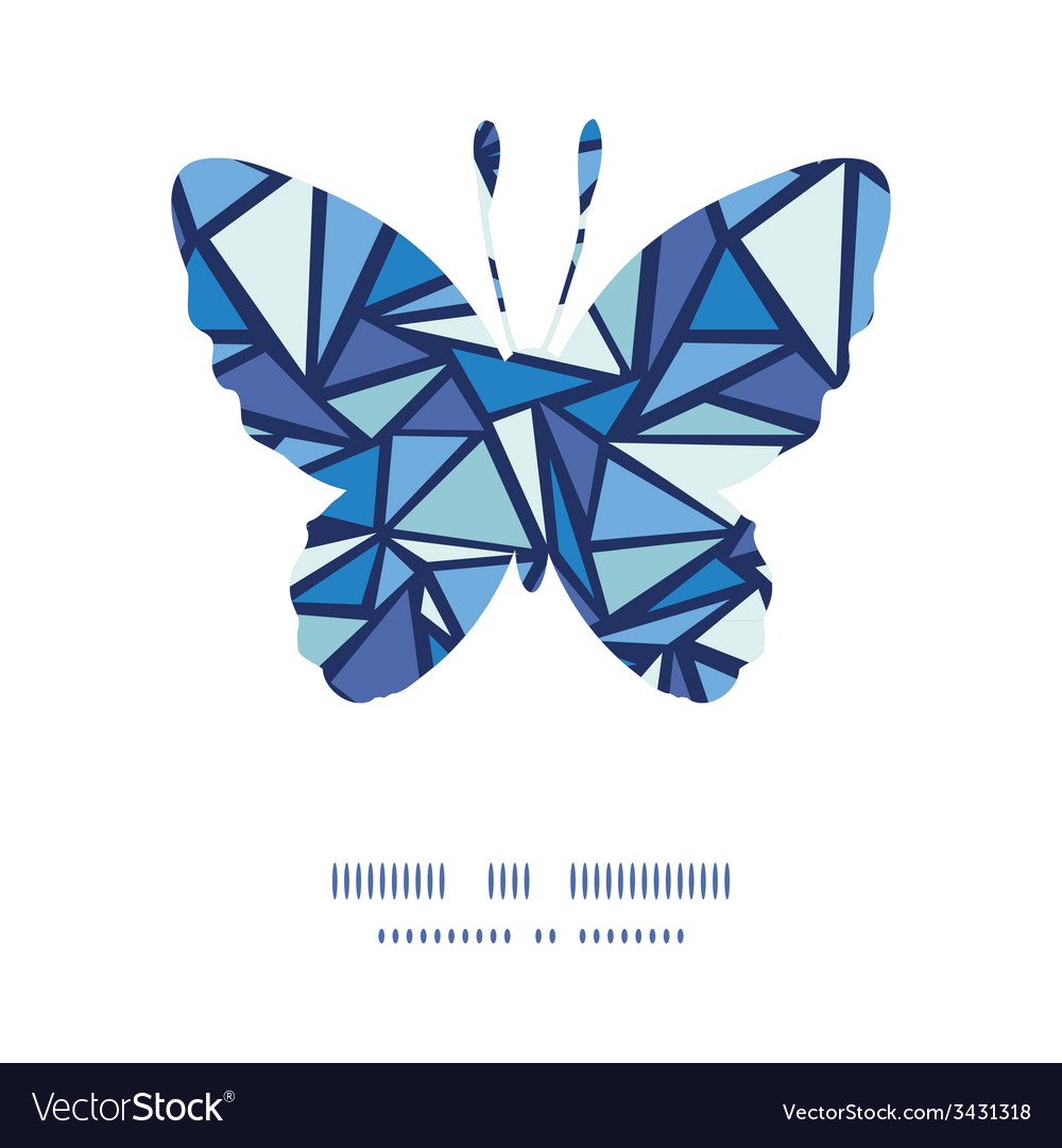 Abstract ice chrystals butterfly silhouette vector | Price: 1 Credit (USD $1)