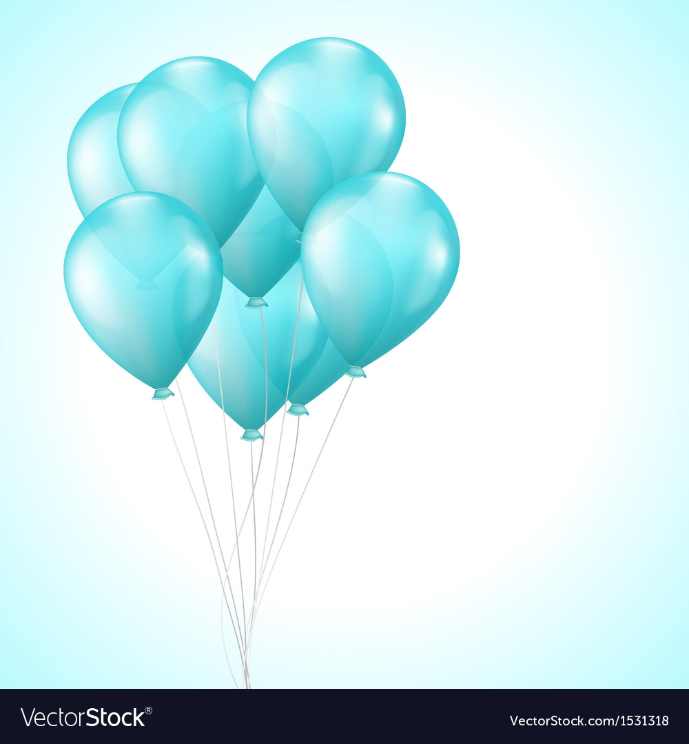 Background with bright light blue balloons vector | Price: 1 Credit (USD $1)