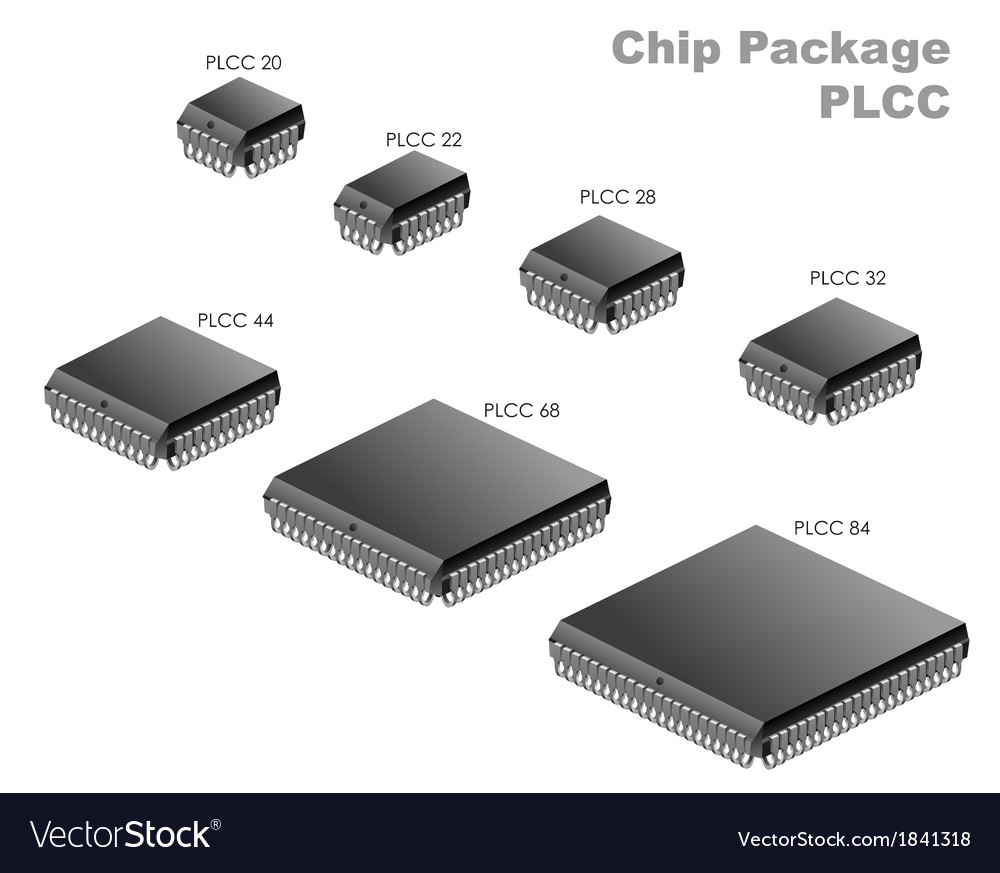 Chip package  plcc vector | Price: 1 Credit (USD $1)