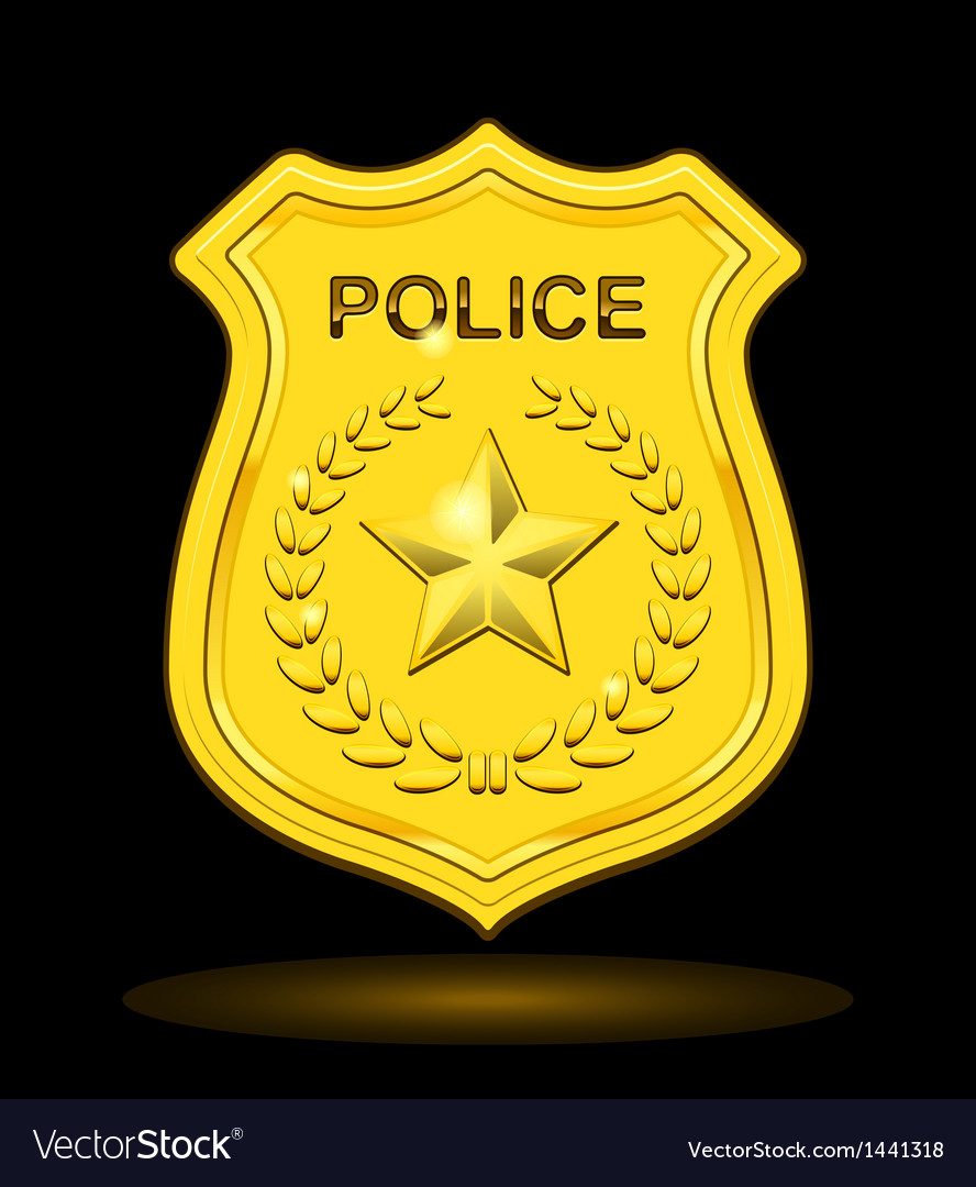 Gold police badge vector | Price: 1 Credit (USD $1)
