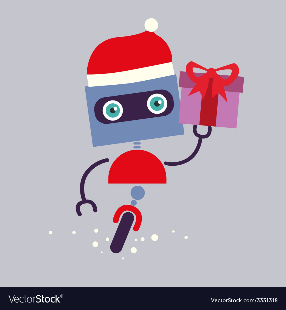 Holiday robot character vector | Price: 1 Credit (USD $1)