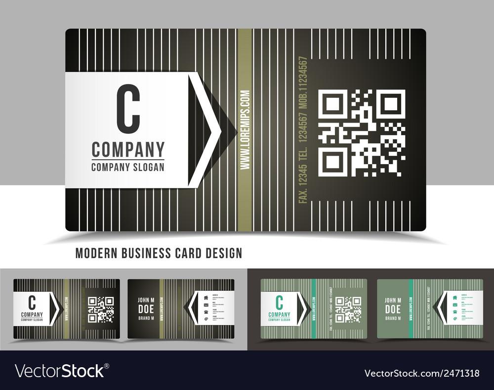 Modern business card design vector | Price: 1 Credit (USD $1)
