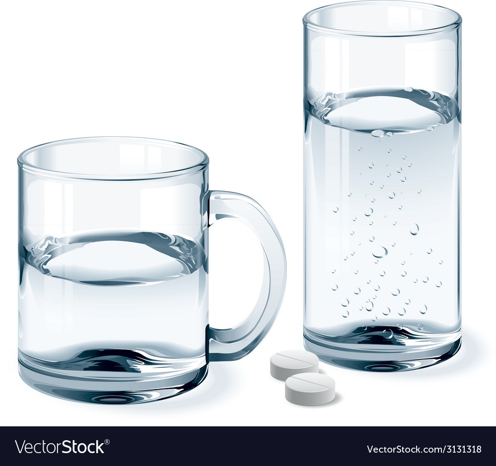 Mug and glass of water vector | Price: 1 Credit (USD $1)
