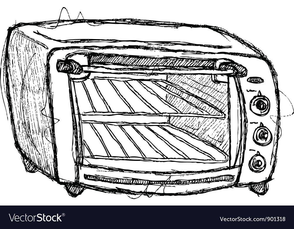 Scribble series - oven vector | Price: 1 Credit (USD $1)