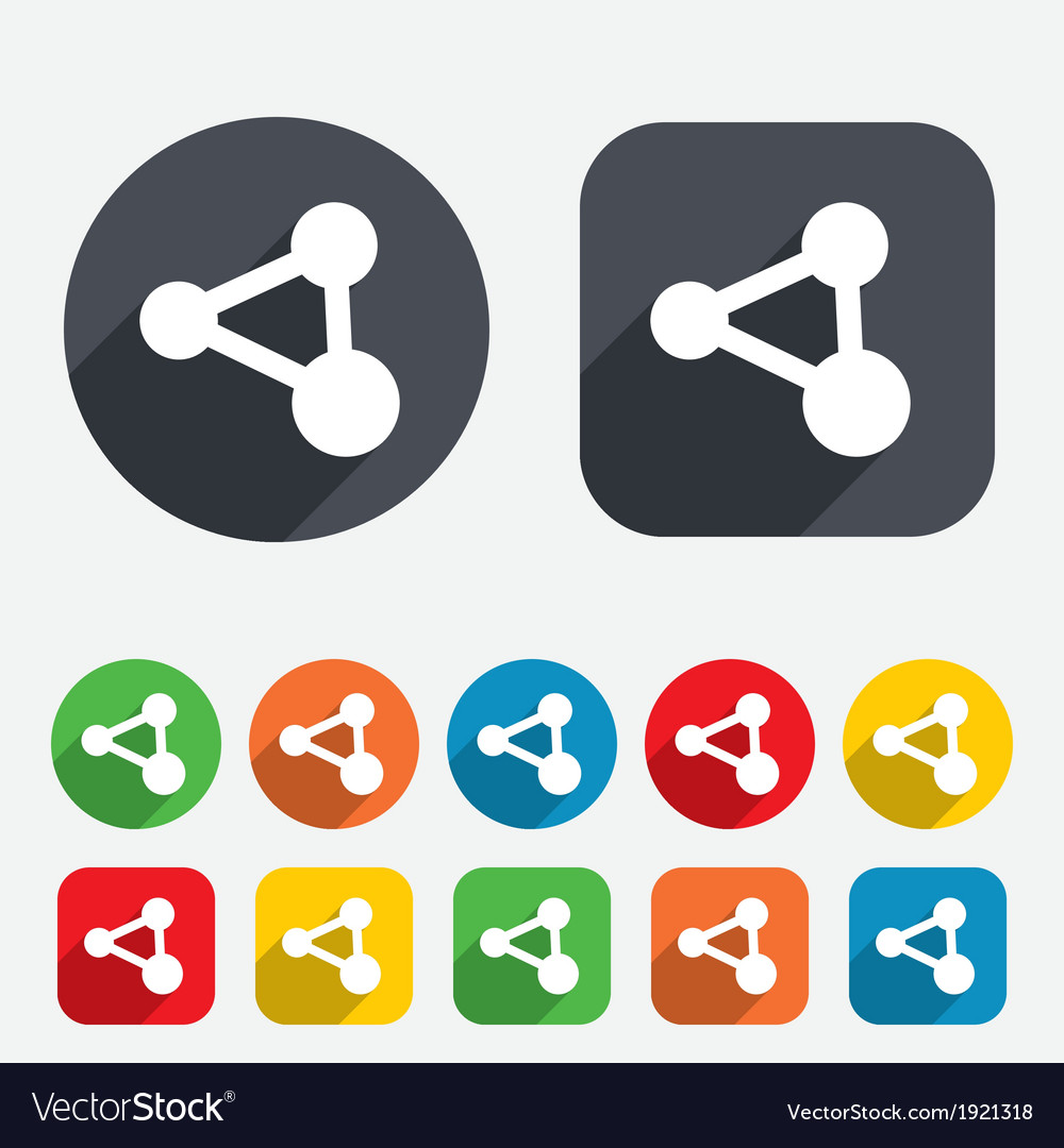 Share sign icon link technology symbol vector | Price: 1 Credit (USD $1)