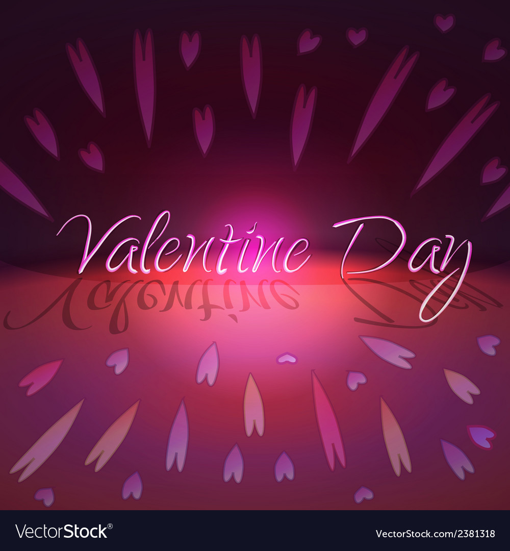 St valentines day greeting card with hearts vector | Price: 1 Credit (USD $1)