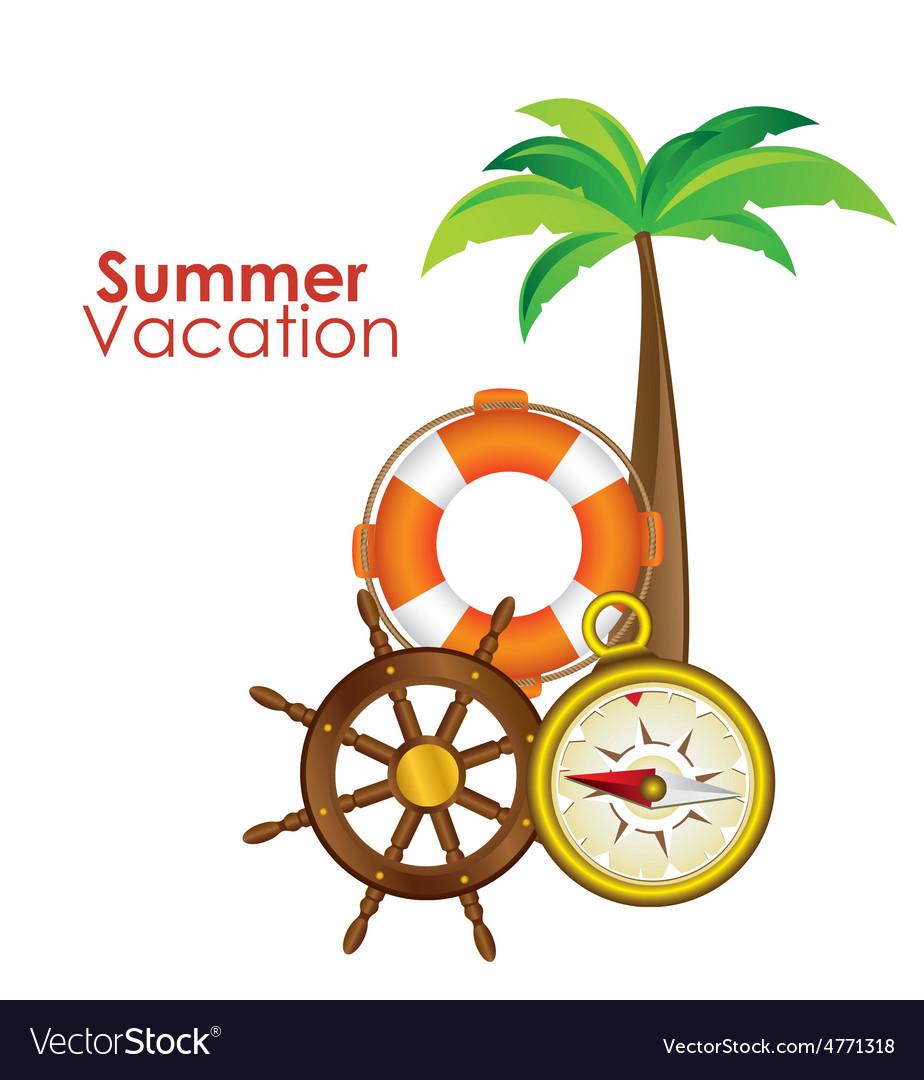 Summer vacation design vector   Price: 1 Credit (USD $1)