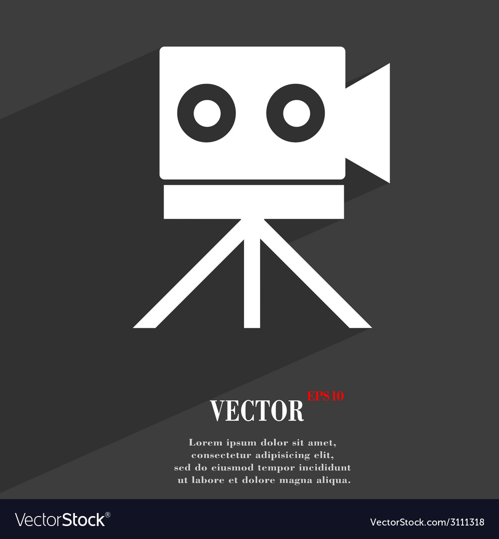 Video camera icon symbol flat modern web design vector | Price: 1 Credit (USD $1)