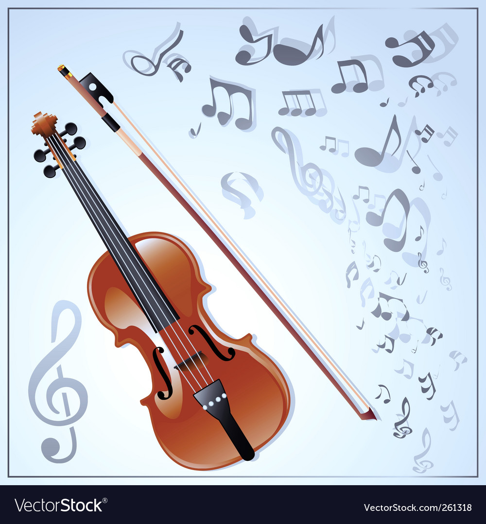 Violin musical background vector | Price: 1 Credit (USD $1)