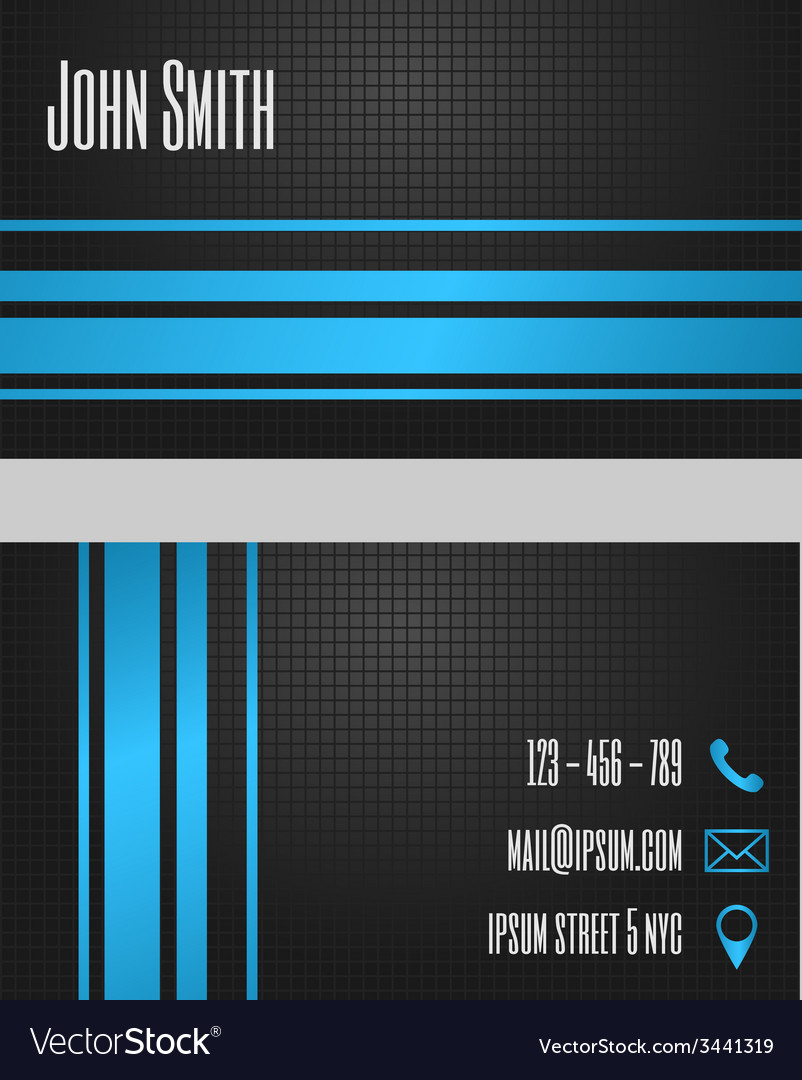 Business card template - modern blue and grey vector | Price: 1 Credit (USD $1)