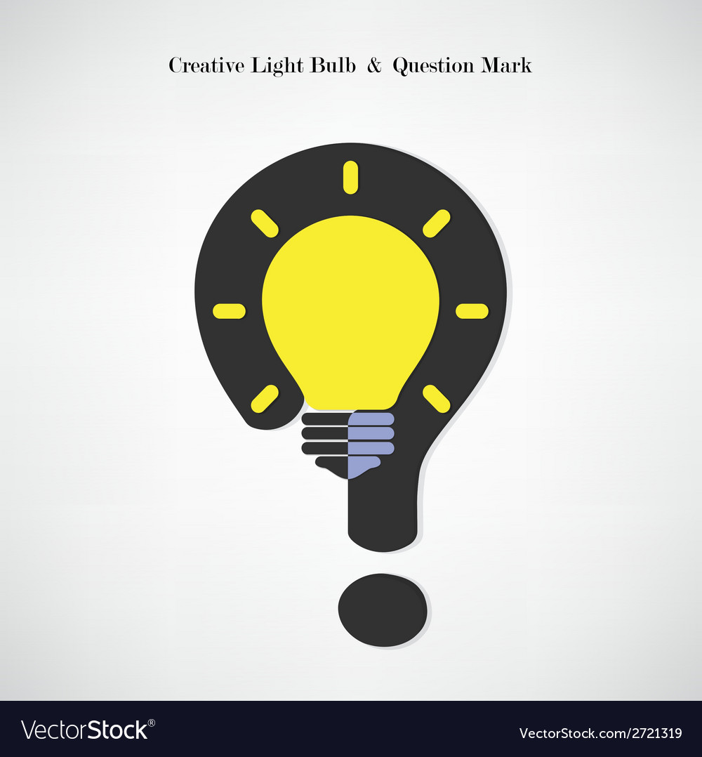 Creative light bulb symbol and question mark sign vector | Price: 1 Credit (USD $1)