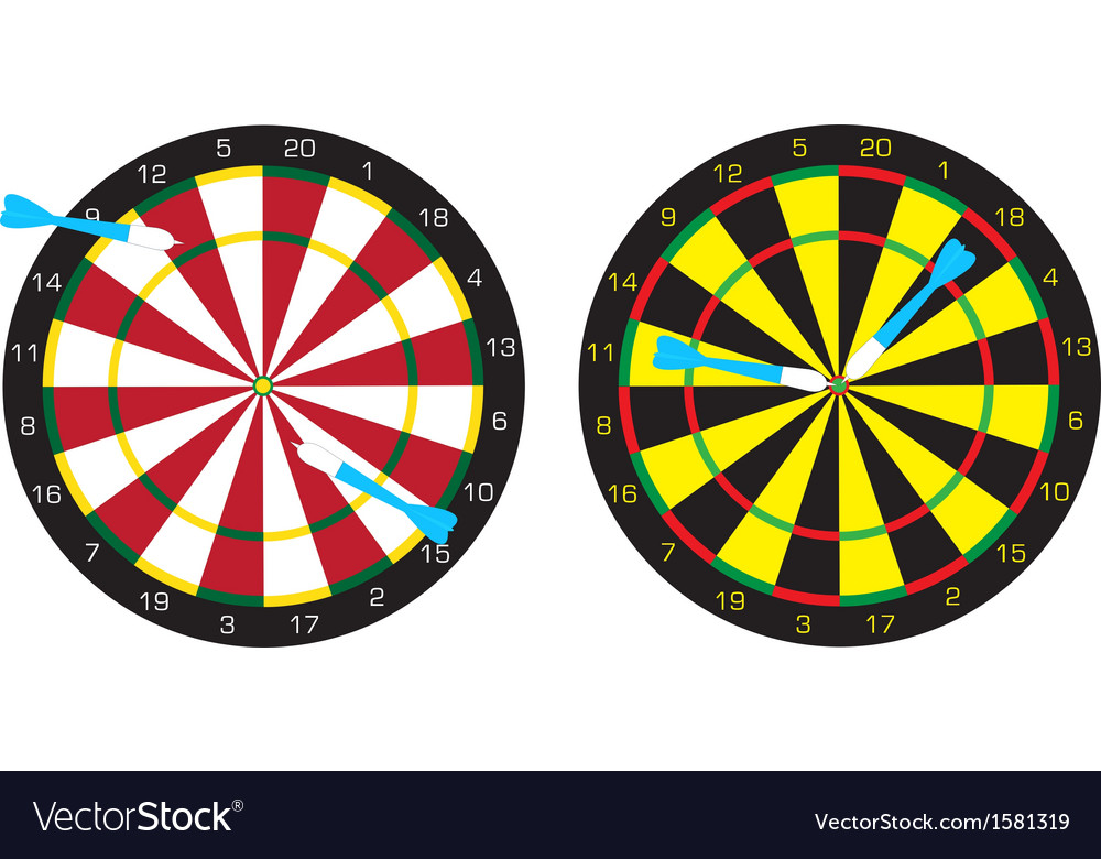 Dart boards and darts vector | Price: 1 Credit (USD $1)
