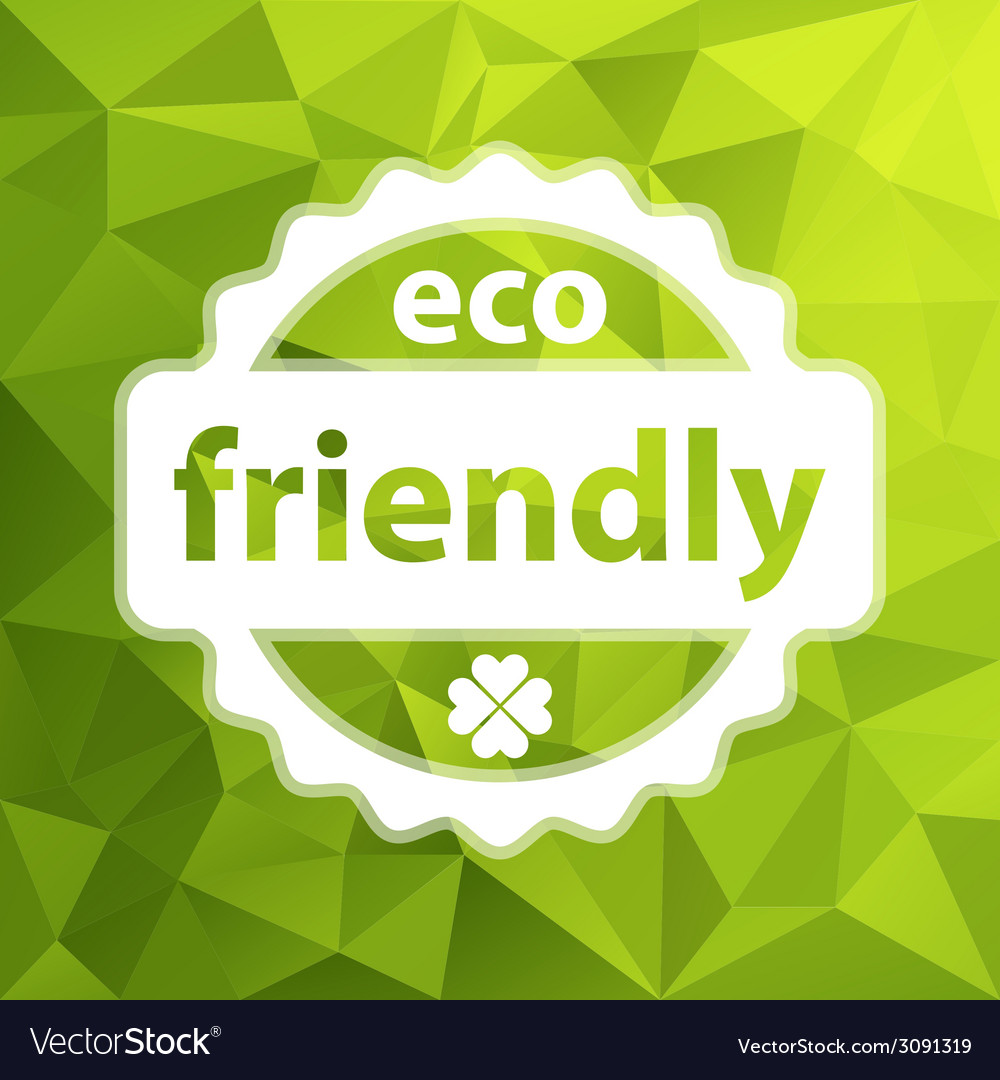 Green eco friendly background vector | Price: 1 Credit (USD $1)