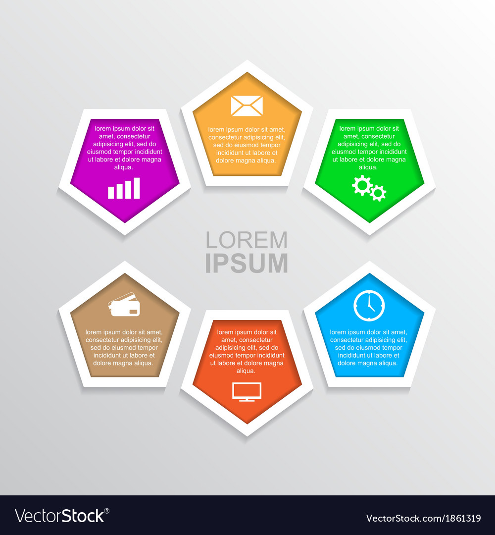 Infographic template 6 vector | Price: 1 Credit (USD $1)