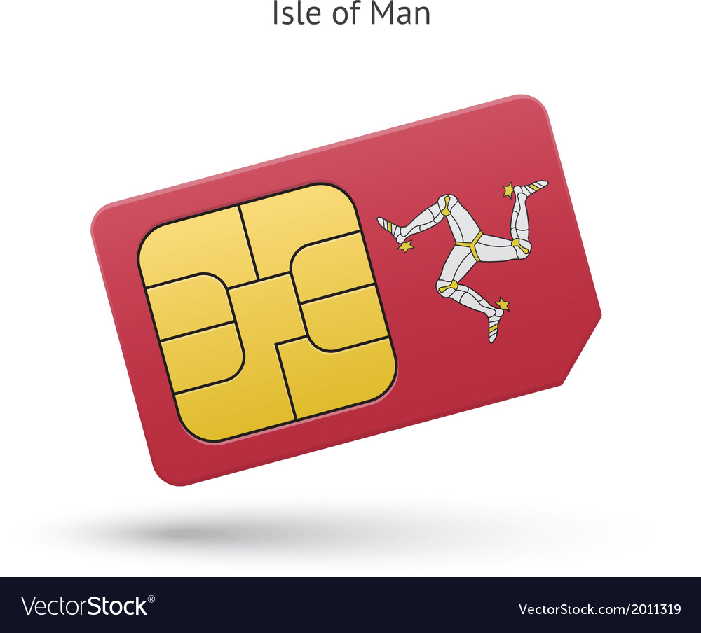 Isle of man mobile phone sim card with flag vector | Price: 1 Credit (USD $1)