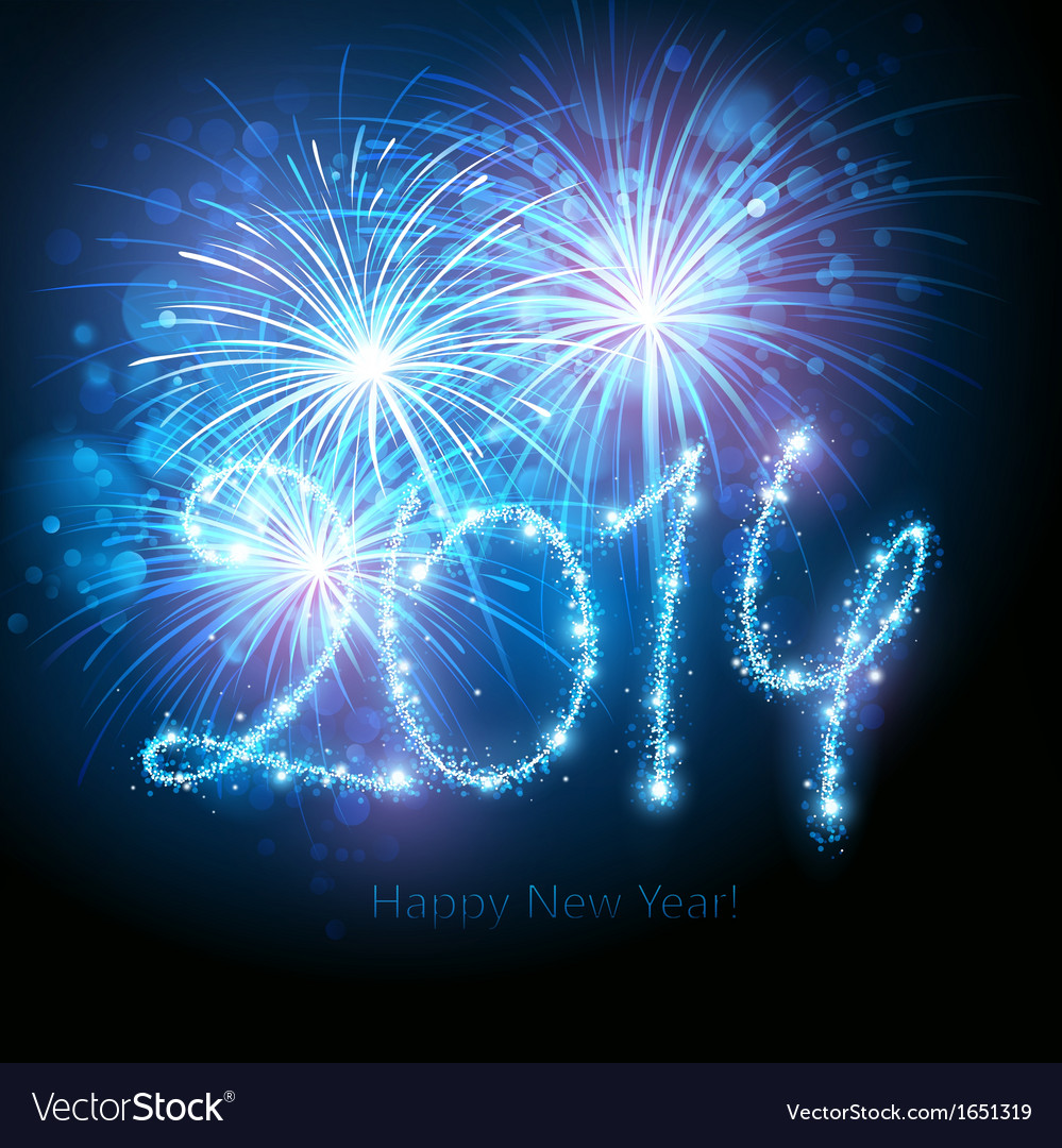 New year fireworks vector | Price: 1 Credit (USD $1)