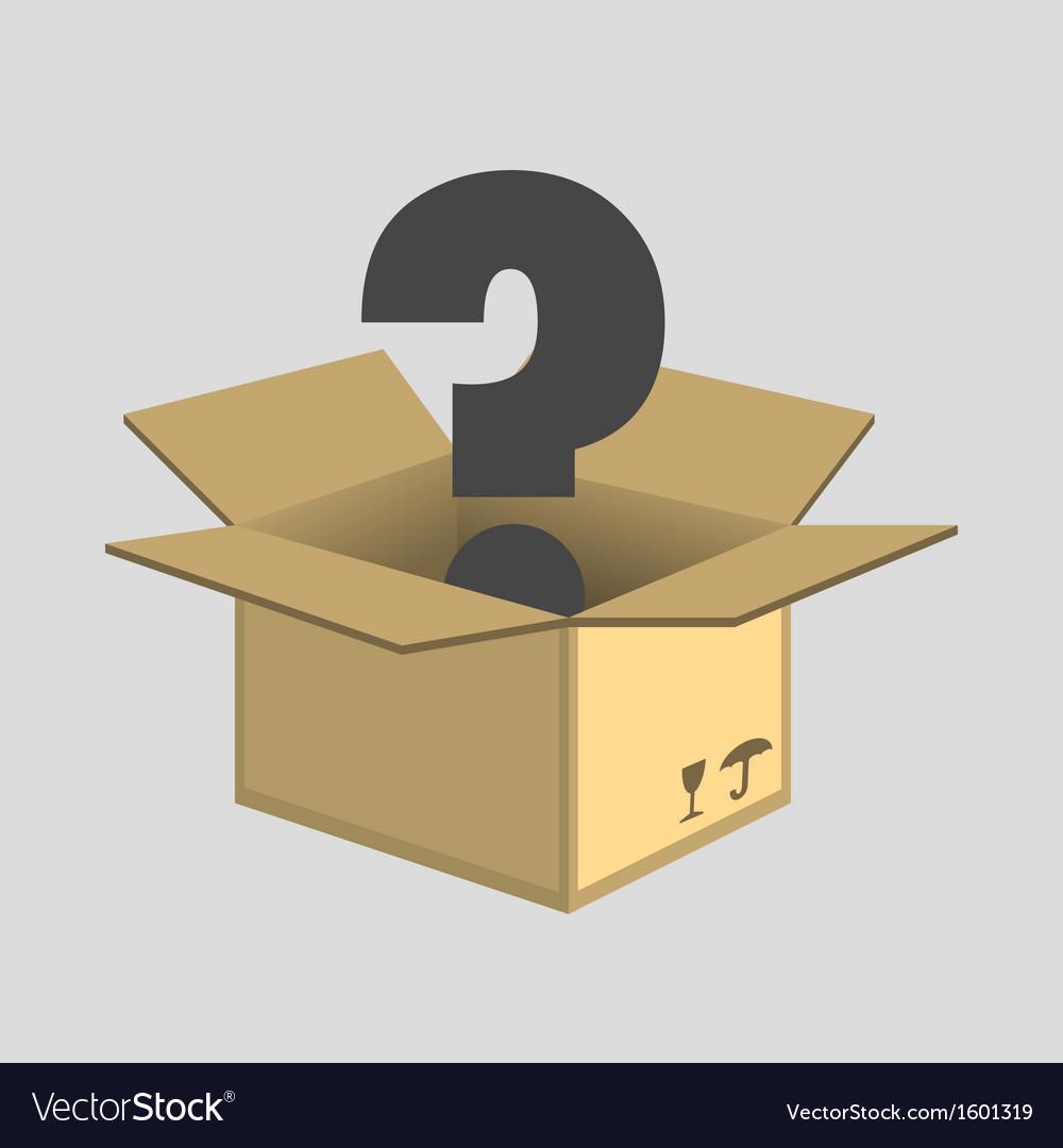 Opened cardboard box vector   Price: 1 Credit (USD $1)