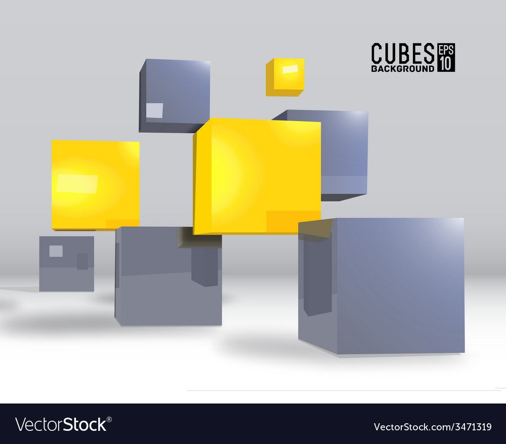 Realistic cubes background concept vector | Price: 1 Credit (USD $1)