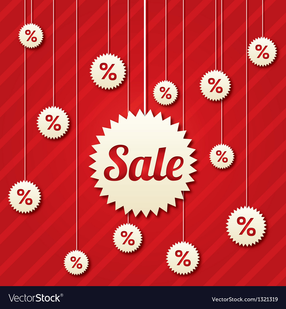Sale poster with percent discount vector | Price: 1 Credit (USD $1)