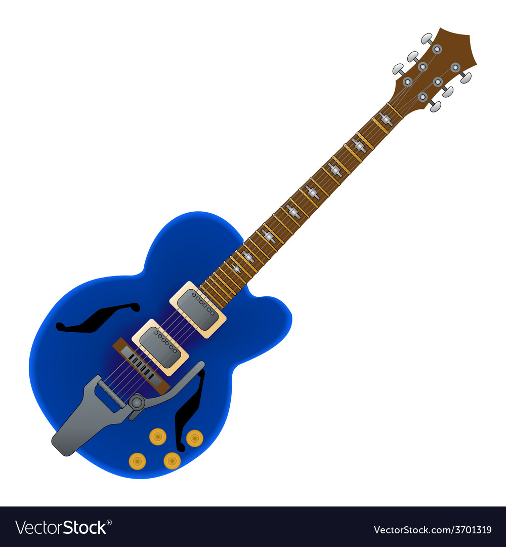 Semi acoustic guitar vector | Price: 1 Credit (USD $1)