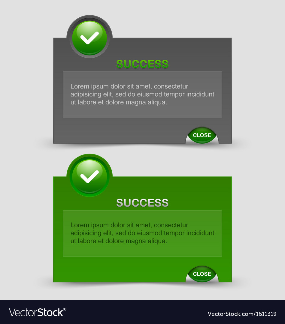 Success notification windows vector | Price: 1 Credit (USD $1)
