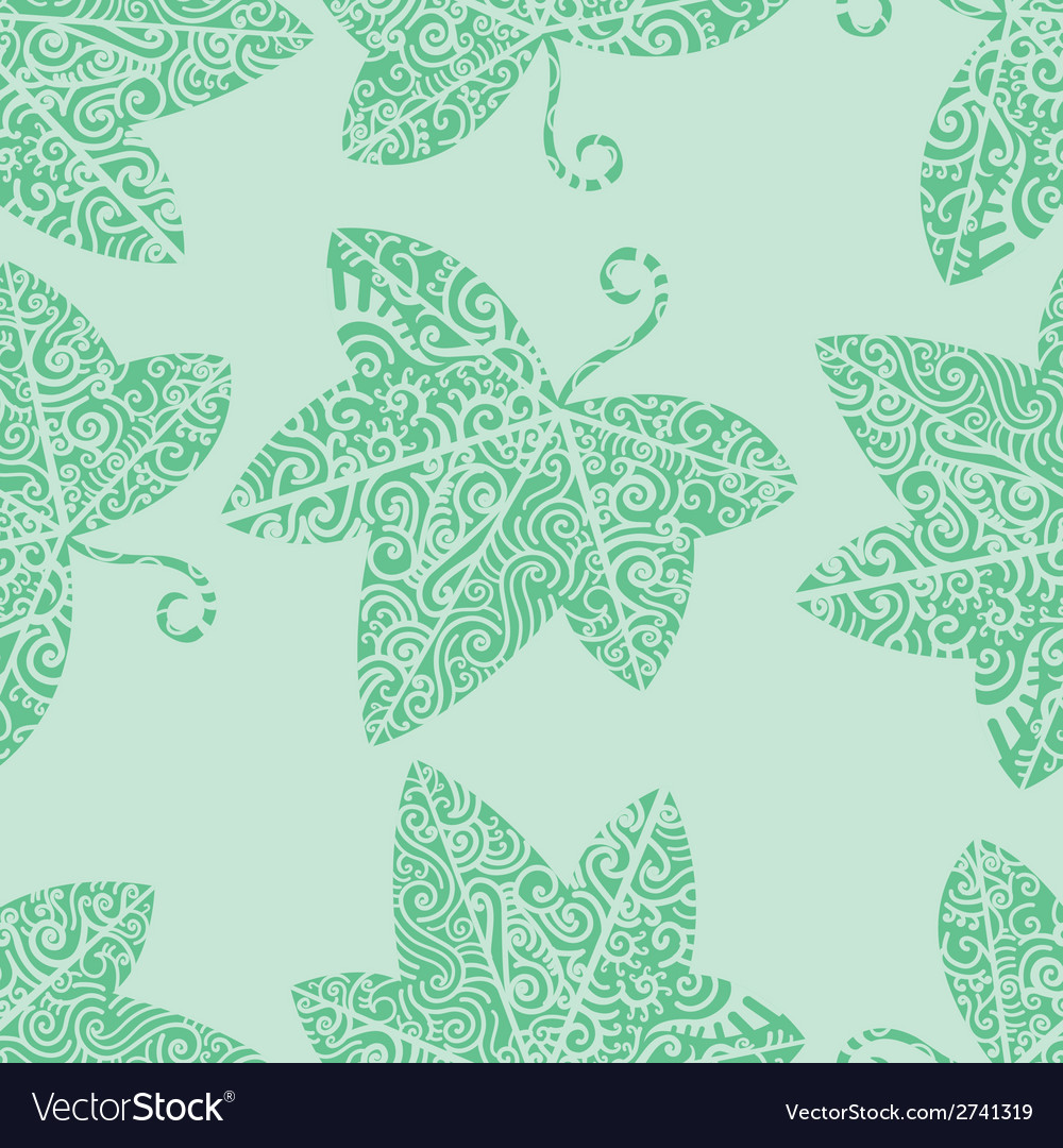 Tribal tattoo ivy leaf vector | Price: 1 Credit (USD $1)