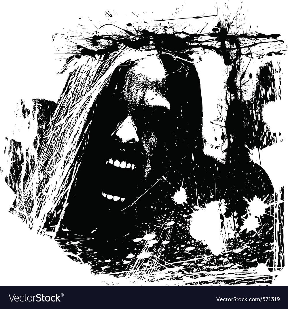 Zombie horror vector | Price: 1 Credit (USD $1)