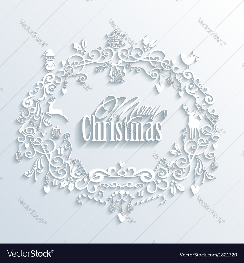Abstract white merry christmas and happy new year vector | Price: 1 Credit (USD $1)