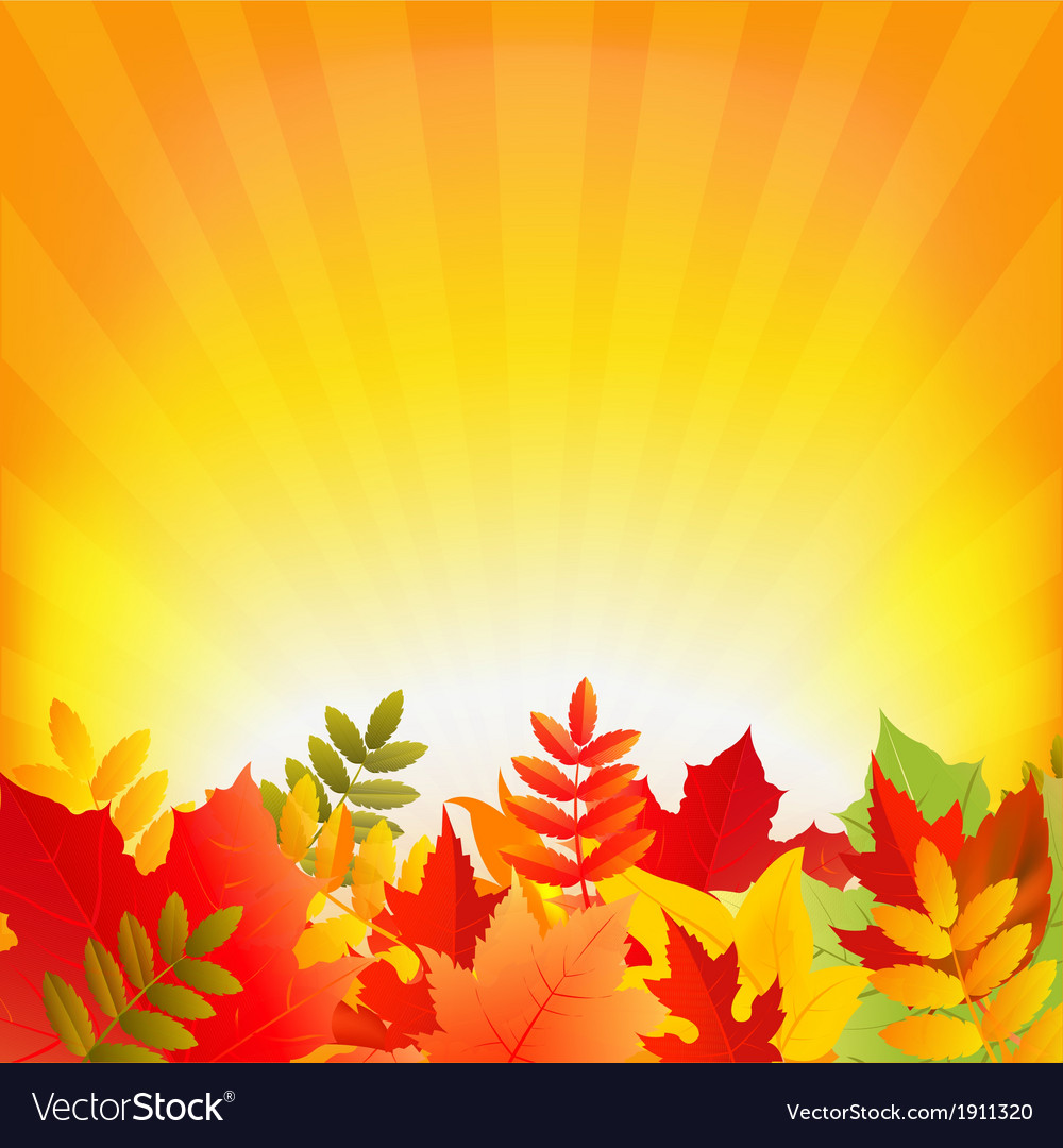 Autumn background with sunburst vector | Price: 1 Credit (USD $1)