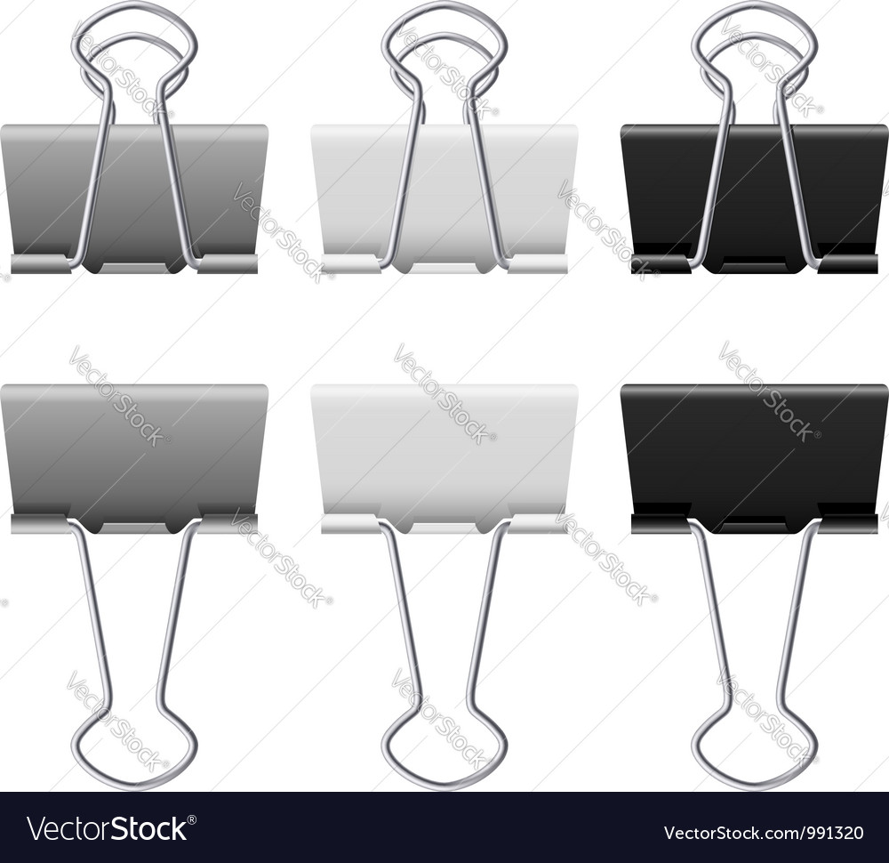 Binders clips vector | Price: 1 Credit (USD $1)
