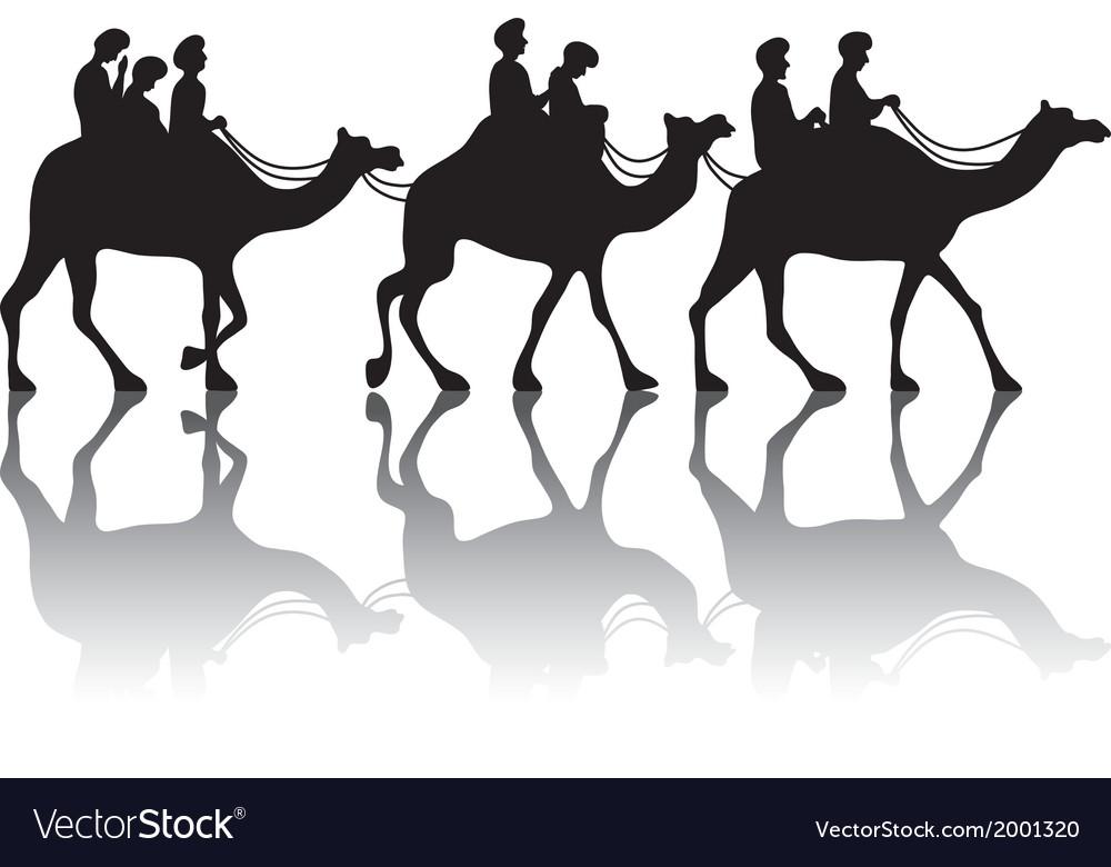 Camels caravan vector | Price: 1 Credit (USD $1)