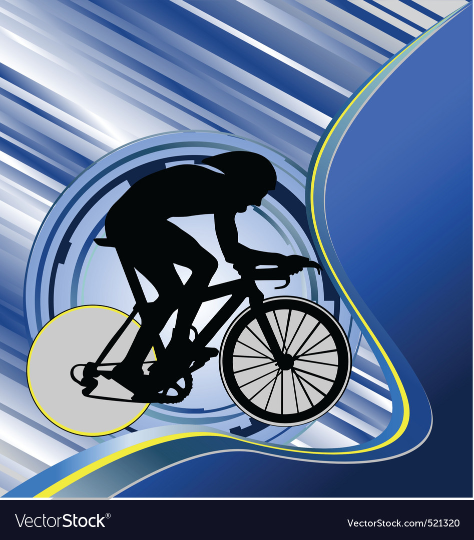 Design template with cyclist silhouette vector | Price: 1 Credit (USD $1)