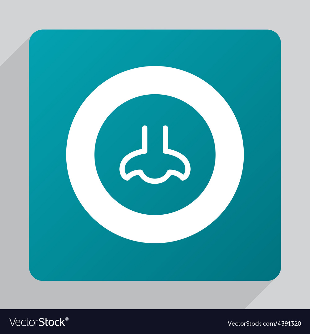Flat nose icon vector | Price: 1 Credit (USD $1)