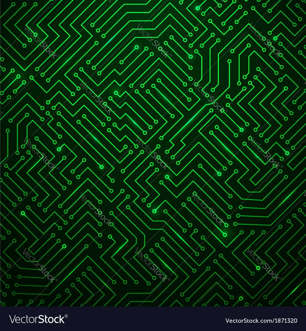 Futuristic shining green technology backgorund vector | Price: 1 Credit (USD $1)