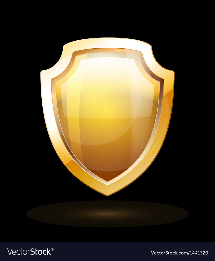 Gold shield vector   Price: 1 Credit (USD $1)