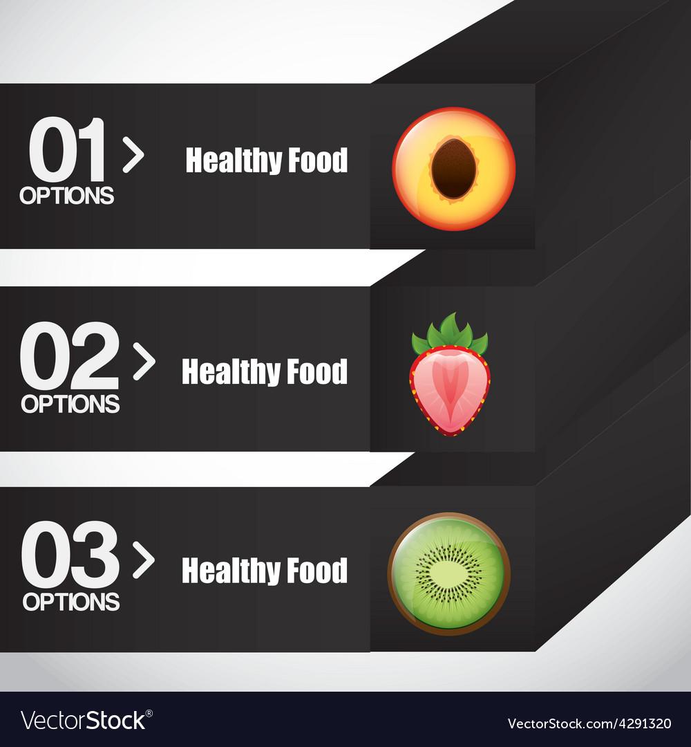 Healthy food infographics vector   Price: 1 Credit (USD $1)