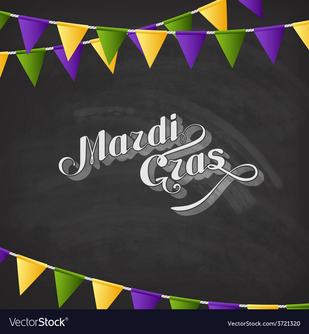 Mardi gras on the blackboard texture vector | Price: 1 Credit (USD $1)