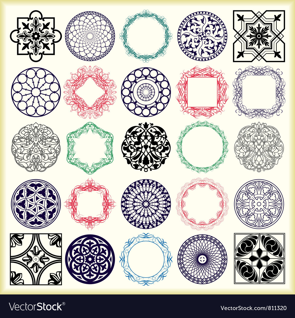 Ornament set vector | Price: 1 Credit (USD $1)