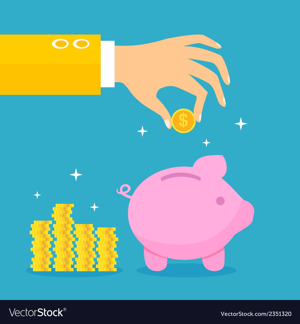 Piggy bank concept vector | Price: 1 Credit (USD $1)
