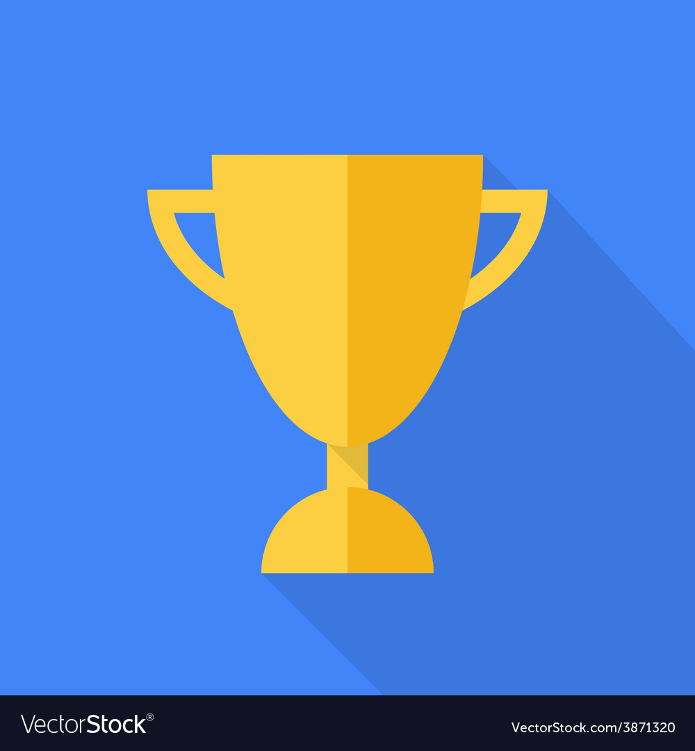 Prize cup flat design vector | Price: 1 Credit (USD $1)