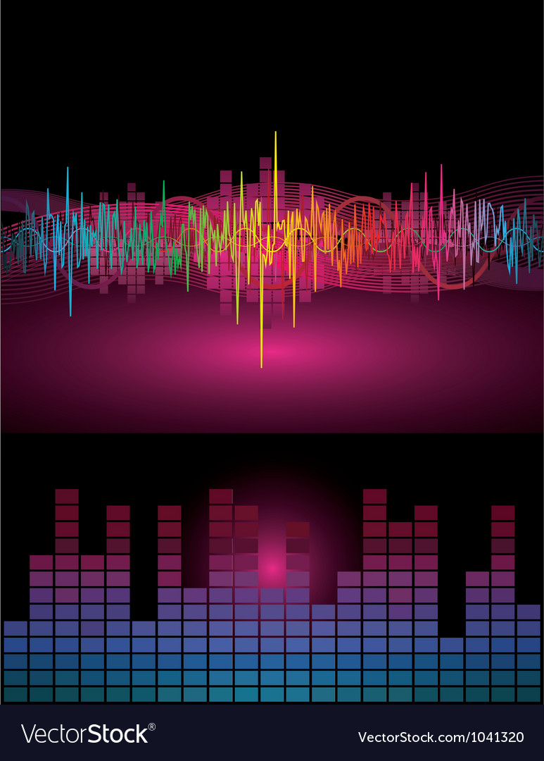Rainbow sound waves vector | Price: 1 Credit (USD $1)