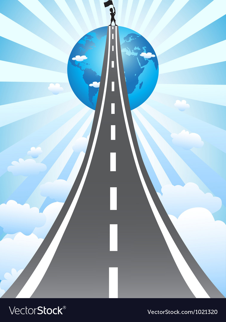 Road to success vector | Price: 1 Credit (USD $1)