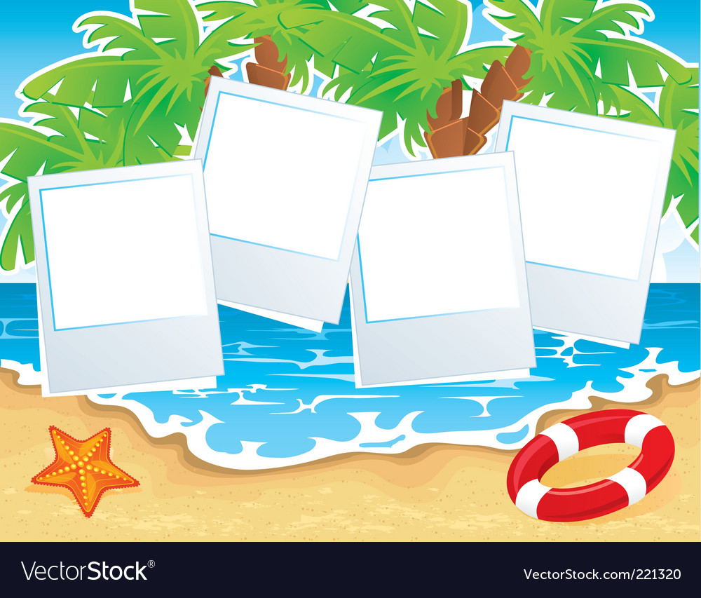 Summer beach back vector | Price: 1 Credit (USD $1)
