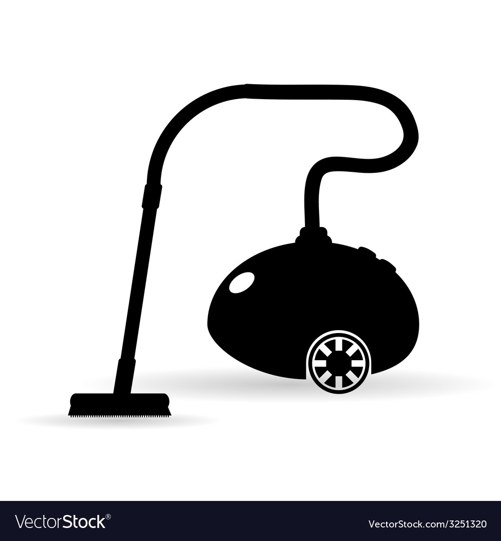 Vacuum cleaner in black vector | Price: 1 Credit (USD $1)